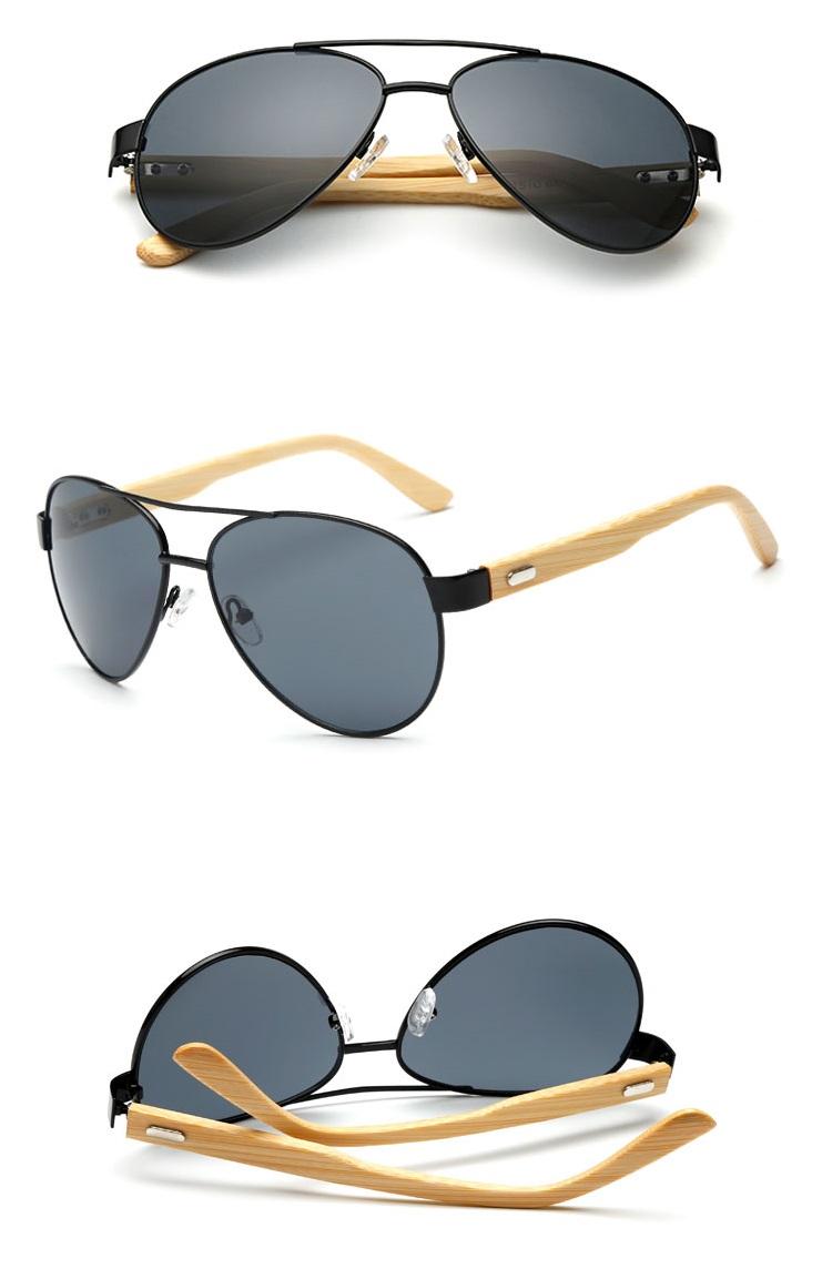 7cfb85170de5e Gafas De Madera Tipo Rayban De Sol Polarizadas – Boheki