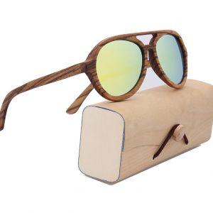gafas hippies de madera