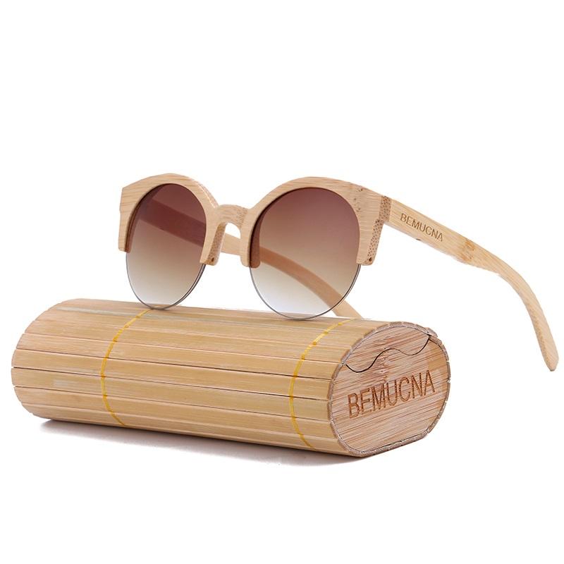 b09ab54fbf Gafas De Madera De Bambú Para Hombre y Mujer Tipo Ojo De Gato ...