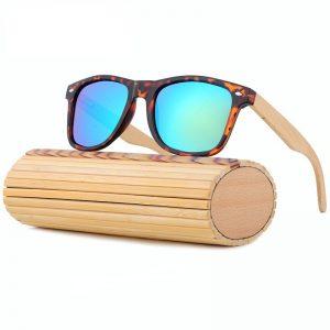 lentes de madera de bambu