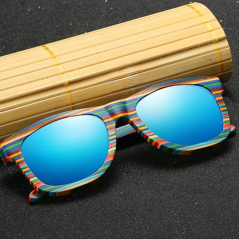 Bambú Gafas Polarizadas Boheki Madera Sol Unisex – De CdeWrxBo