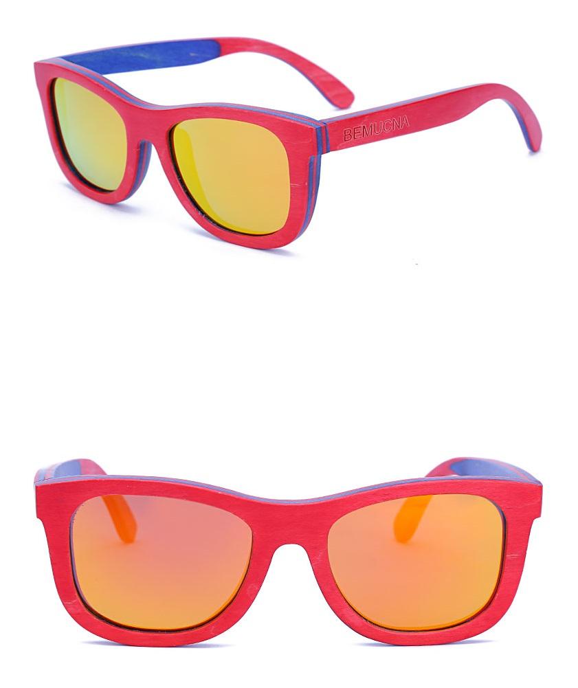 Gafas De Sol Para Niños De Madera Con Lente Polarizado
