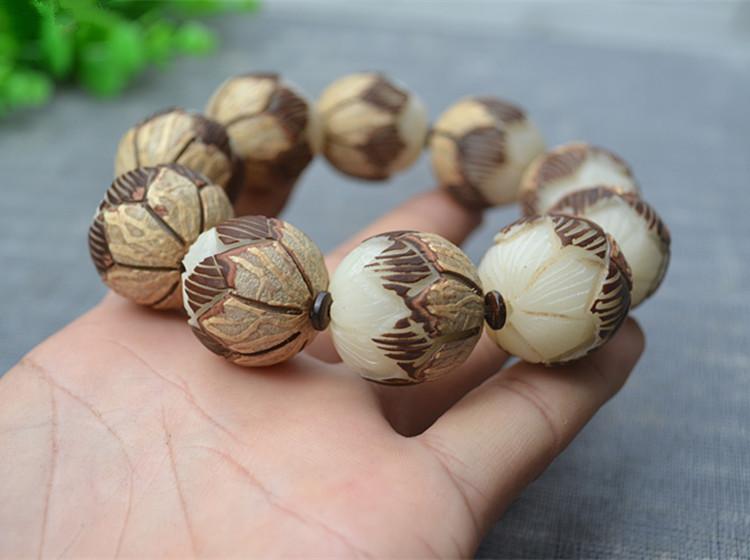 pulsera perlas de flor de loto