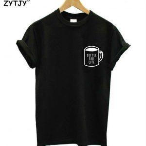 coffee t-shirt black