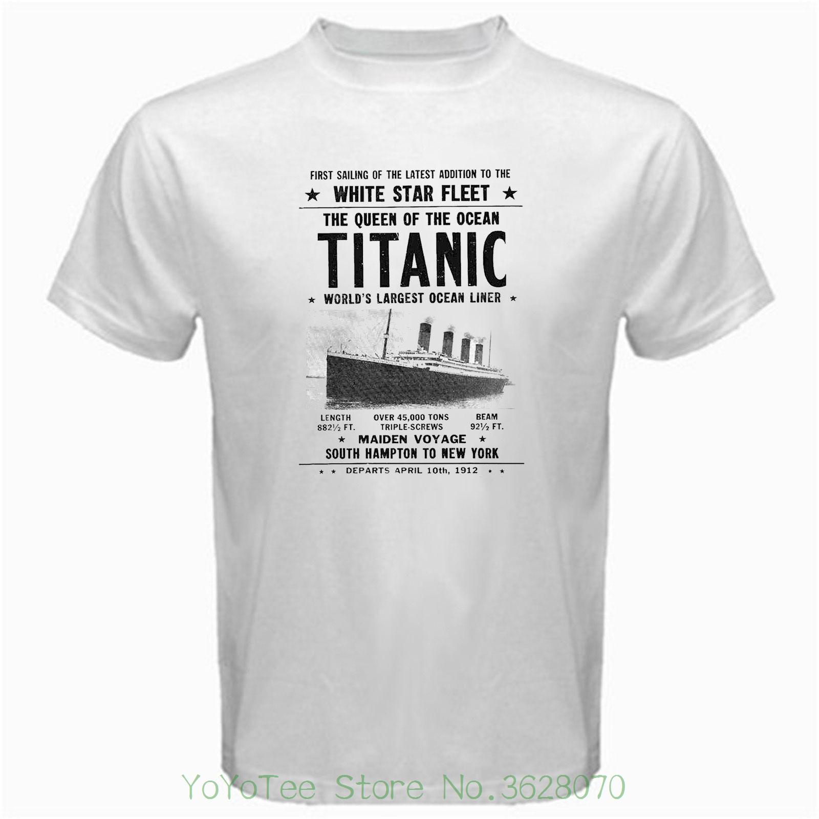 23945594 Titanic T-shirt Hipster Summer Mens White