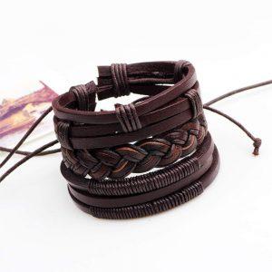 pulseras hippie de cuero
