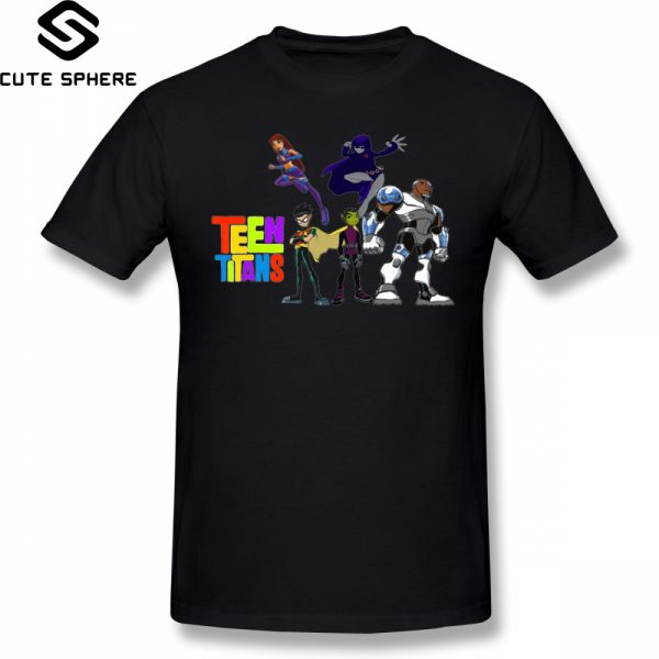 teen titans black t shirts