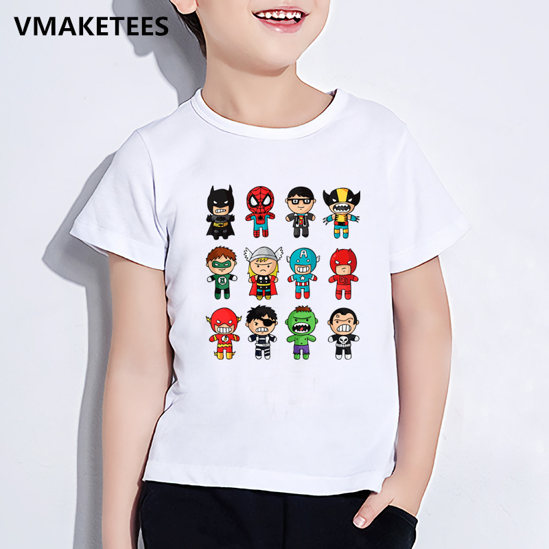 4f3cbe452 Marvel T-shirts For Kids | Kids Summer Short Sleeve Girl & Boy T shirt  Avengers Super Hero Cartoon Print Children T-shirt Marvel Funny Baby  Clothes,HKP5512